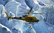 Heli flights over Mont Blanc