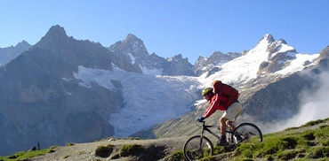 Mountain biking in Chamonix in summer